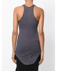 Rick Owens | Multicolor Curved Hem Tank Top | Lyst