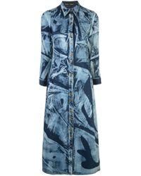 Proenza Schouler Blue Ausgeblichenes Jeanskleid