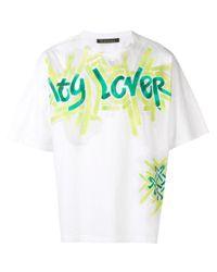 Mr & Mrs Italy White Oversized T-shirt for men
