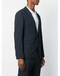 メンズ BOSS チェック ジャケット Blue