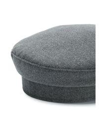 Gorra casual Manokhi de color Gray