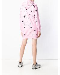 Vestito modello felpa Space Teddy di Moschino in Pink