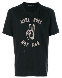 John Varvatos - Black Make Rock Not War T-shirt for Men - Lyst