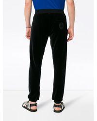 Pantaloni felpati di Versace in Black da Uomo