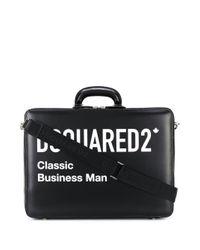 メンズ DSquared² Classic Business Man ビジネスバッグ Black
