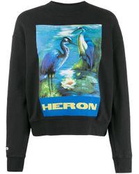 Heron Preston プリント スウェットシャツ Blue