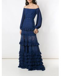 Robe Lila Martha Medeiros en coloris Blue