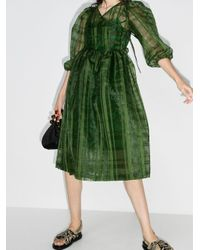 Shrimps Green Titania check dress