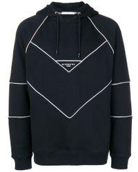 Sudadera a paneles con capucha y logo Givenchy de hombre de color Black