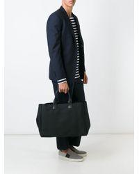 Troubadour Fabric + Leather トートバッグ Black