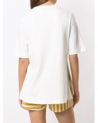 Blusa Long Rustic di Osklen in White