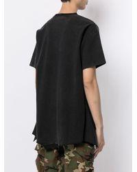 メンズ Mostly Heard Rarely Seen Felix Upside Down Tシャツ Black