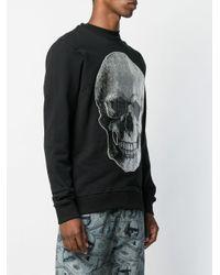 Philipp Plein Sweatshirt mit Totenkopf-Print in Black für Herren