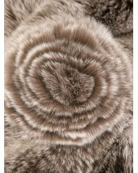 N.Peal Cashmere Gray Rabbit Fur Scarf