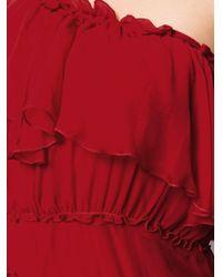 FEDERICA TOSI - Red Tie-waist One Shoulder Dress - Lyst