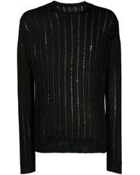 Uma Wang Black Sheer-knit Jumper for men