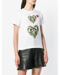 Heart eyes T-shirt COMME DES GARÇONS PLAY en coloris White