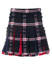 Thom Browne チェック プリーツミニスカート Multicolor