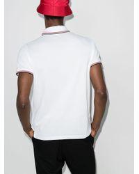 メンズ Moncler ロゴ ポロシャツ White