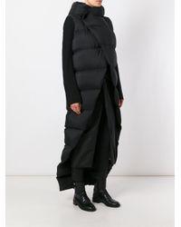 Rick Owens | Black Padded Long Coat | Lyst