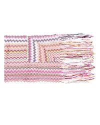 Écharpe à motif zigzag Missoni en coloris Pink