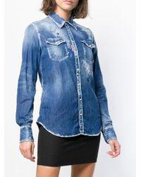 DSquared² Western デニムシャツ Blue