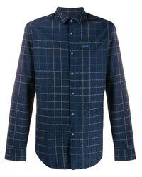 メンズ BOSS by Hugo Boss チェックシャツ Blue
