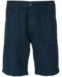 Eleventy Blue Classic Deck Shorts for men