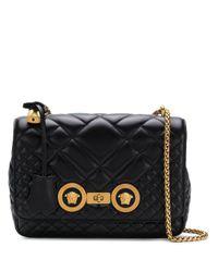 Versace Black Quilted Shoulder Bag