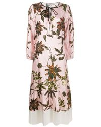 Dorothee Schumacher Powerful Flora シルクドレス Pink