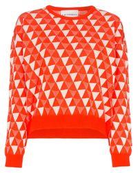 Pull à motif géométrique Rudi Gernreich en coloris White
