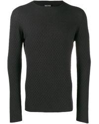 Giorgio Armani Gray Knitted Sweatshirt for men