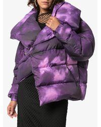 Marques'Almeida パデッドジャケット Purple