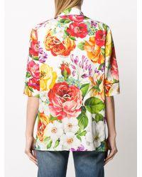 Блузка С Цветочным Принтом Dolce & Gabbana, цвет: Multicolor