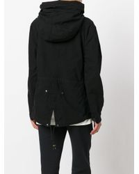 Mr & Mrs Italy Black Embroidered Parka