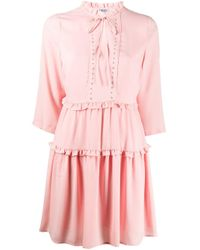 Liu Jo フリルトリム ドレス Pink