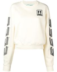 Off-White c/o Virgil Abloh - Embroidered Sweatshirt - Lyst