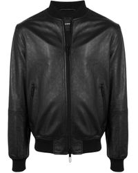 メンズ Emporio Armani エンボス ボンバージャケット Black