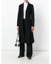 Theory - Black Single Breasted Coat - Lyst