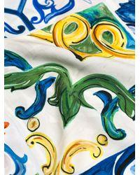 Dolce & Gabbana Multicolor Majolica Printed Blouse
