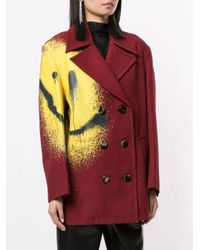 Manteau à motif pied-de-poule Alexander Wang en coloris Red