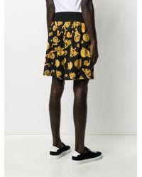 メンズ Versace Jeans バロックプリント ショートパンツ Black
