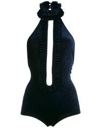 Бархатный Слитный Купальник Adriana Degreas, цвет: Blue
