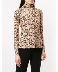 ROKH Natural Leopard-print Jumper