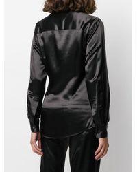 AlexaChung カーブヘム テーラードシャツ Black