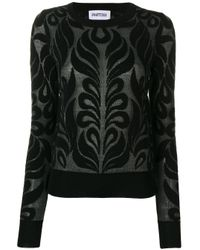 Partow Black Anise Patterned Jumper