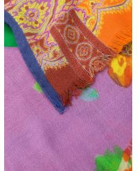 Etro フローラル スカーフ Multicolor