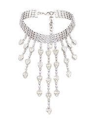 Collier ras-de-cou à pendentif Alessandra Rich en coloris Metallic