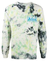 T-shirt con lavaggio acido di Aries in Multicolor da Uomo