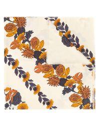 Sciarpa con stampa a fiori di Tory Burch in Multicolor